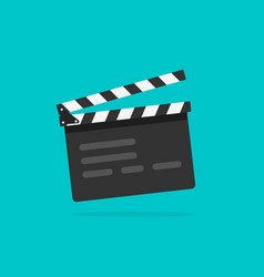 clapperboard flat style clapperboard icon vector image