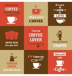 Coffee mini poster set vector image