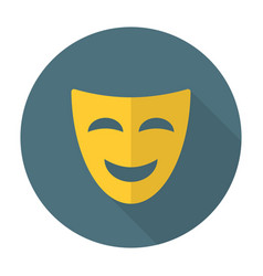 Comedy mask flat icon vector image