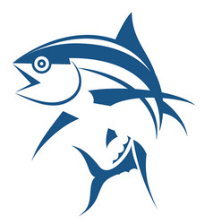 fish logo template symbol of fishing club or vector image