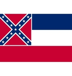 Flag of mississippi correct size colors vector