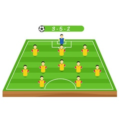 Football tactics and strategy team formation vector