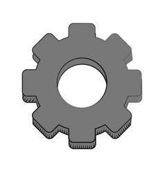 Gear engineer work cooperation vector