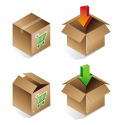 icon of shipping box vector image vector image