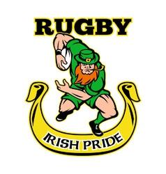 irish rugby pride vector image vector image