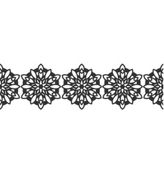 ornate decorative snowflakes on a white background vector image vector image
