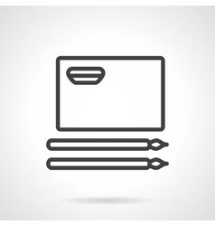 Simple line album for painting icon vector