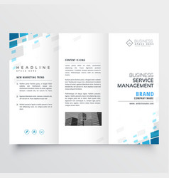 Simple trifold business brochure template design vector