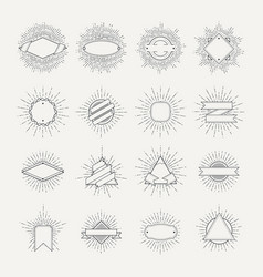 stamp and badges collection different shapes and vector image vector image