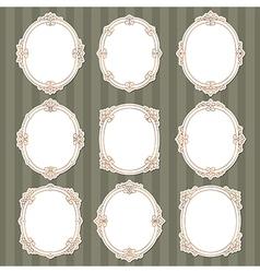 vignette frames classic vector image