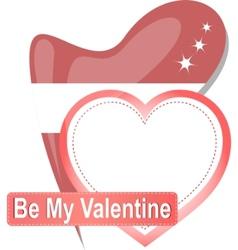 vintage heart sign vector image vector image