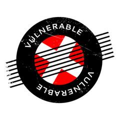 Vulnerable rubber stamp vector