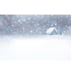 winter house snowfall vector image vector image