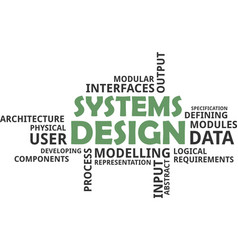 Word cloud - systems design vector