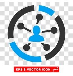 Relations Diagram Eps Icon vector image
