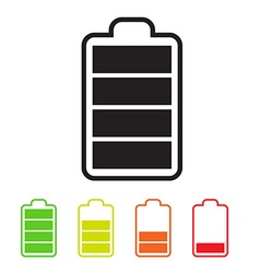 Battery Icons Simple Battery Life Symbols Set vector image