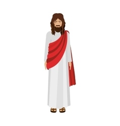 Figure human of jesus christ vector
