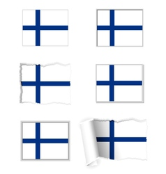 Finland flag set vector