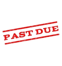 Past due watermark stamp vector