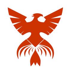 red phoenix symbol vector image