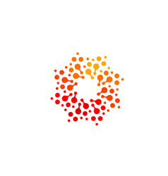 Isolated abstract round shape orange and red color vector