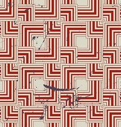 Retro style geometric seamless background vintage vector image