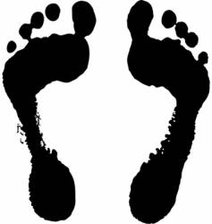 Feet silhouette vector