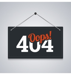404 sign for website server error vector