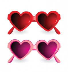 Sunglasses heart shape vector