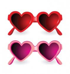 sunglasses heart shape vector image