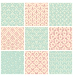 Backgrounds set seamless wallpaper vintage vector