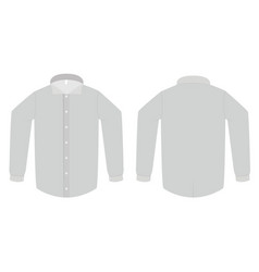dress shirt or blouse template vector image
