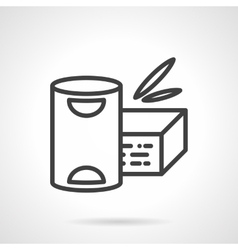 Baby powder milk simple line icon vector