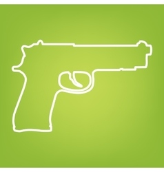 Gun line icon vector