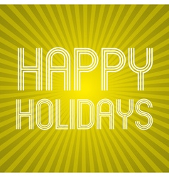 Color yellow shadow abstract design happy holidays vector
