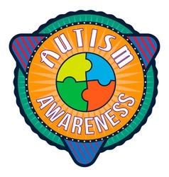 Autism awareness t-shirt typography vector