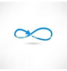 Blue infinite icon vector