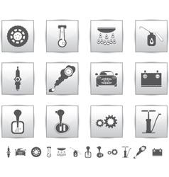 Car set icons auto service square vector