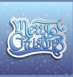 card with lettering quote merry christmas vector image