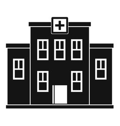 City hospital building icon simple style vector