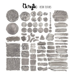 Collection of acrylic textures vector image