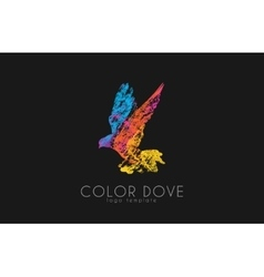 Color dove logo Dove logo Bird logo design vector image vector image