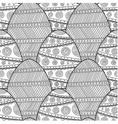 Decorative easter eggs black and white seamless vector