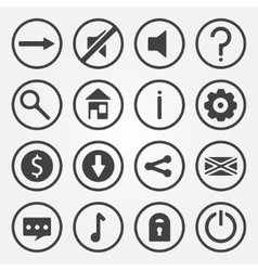Flat game icons set vector