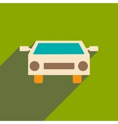 Flat with shadow icon and mobile applacation car vector