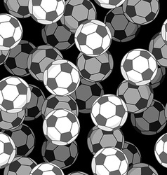 Football ball 3d seamless pattern sports accessory vector