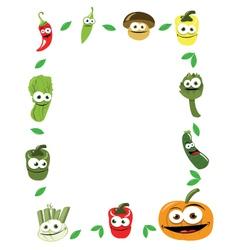 Funny Vegetables Frame vector image