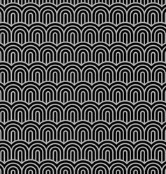 Geometric striped seamless pattern with stylized vector image vector image