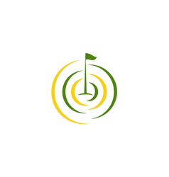 golf flag tournament logo vector image