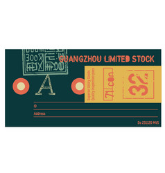 Guangzhou limited stock clothing tag vector